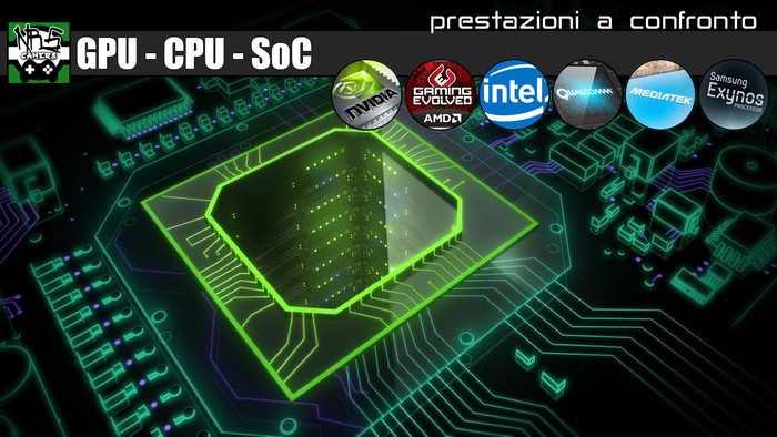 Scala delle prestazioni: Schede Video, Processori, Smartphone