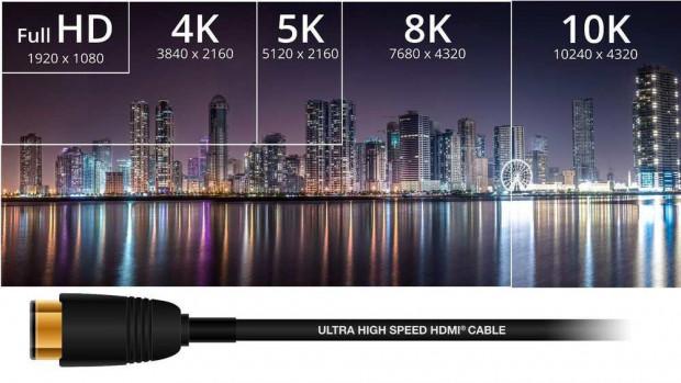 HDMI 2.1 permette di gestire il segnale delle TV 8K a 60 Hertz.
